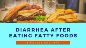 diarrhea after eating fatty foods