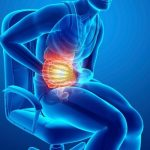 Sharp upper stomach pain
