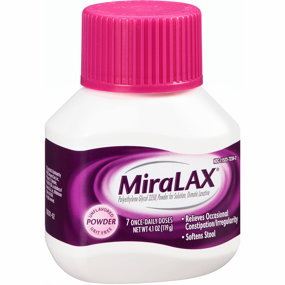 how long miralax stays in your systems.
